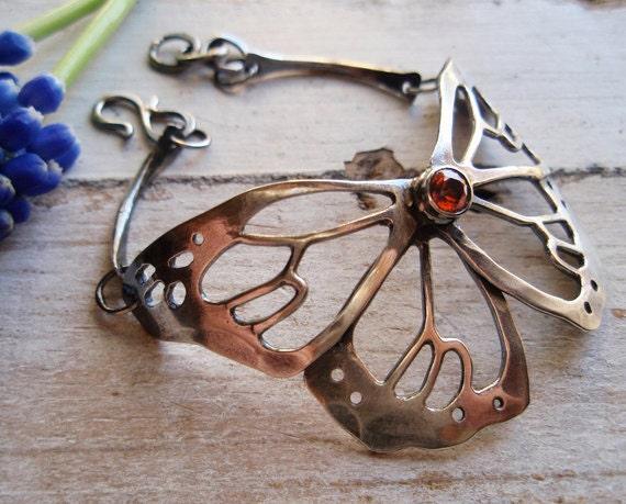 RESERVE for DeeDee!  butterfly bracelet, artigiano monarch in flight