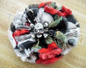 Fabric Flower with Skull