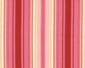 End of Bolt Piece- Sandi Henderson for Michael Miller Vintage Stripe in Blush - 35 inches