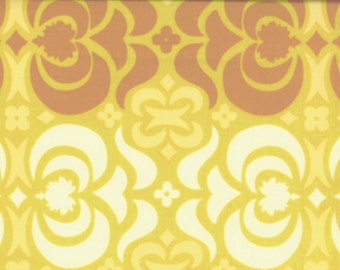 SALE Amy Butler Midwest Modern Garden Maze in Mustard - 1 yard listing