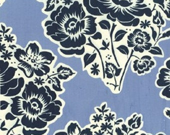 SALE Fresh Cut flowers in Midnight by Sandi Henderson for Michael Miller, 1 yard listing