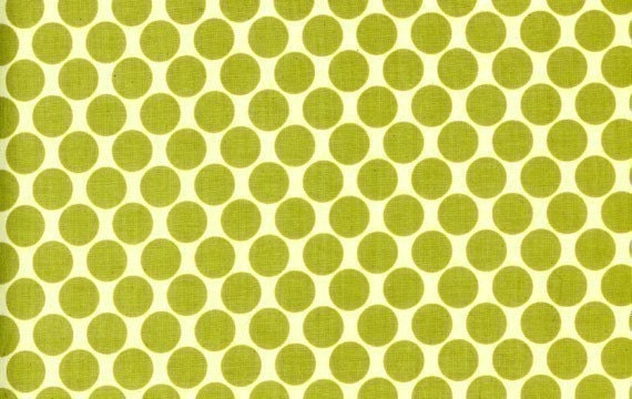 End of Bolt Piece - Amy Butler Full Moon Polka Dot in Lime, 8 inches