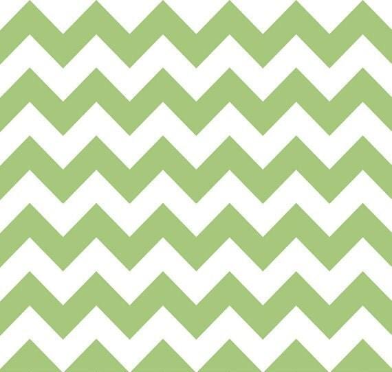 Riley Blake Designs Chevron in Green - 1 yard listing