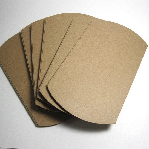 plain kraft pillow boxes wholesale pack of by prettyhairclippies. Black Bedroom Furniture Sets. Home Design Ideas