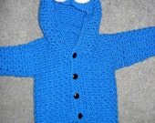 PDF crochet blue monster PATTERN includes 5 sizes