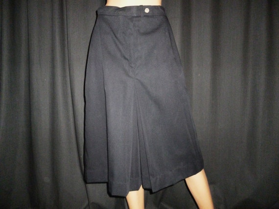 "Vintage 60's Black Gauchos or Coolots Skirt  28"" waist"