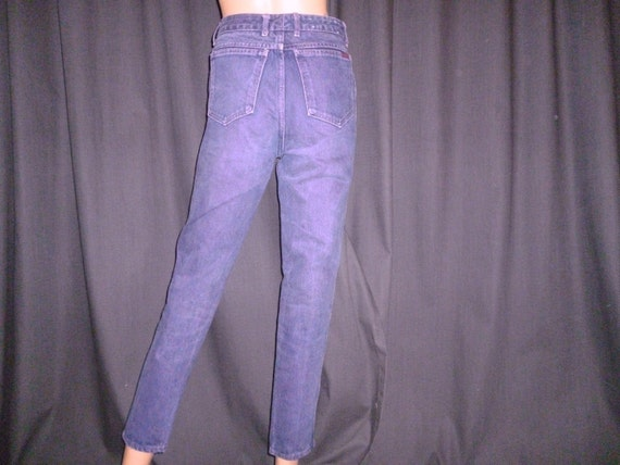 "OOH LA LA Sasson - Vintage1980s - Sasson - Purple Wash - Denim - Skinny - Peg Leg - Mod - Jeans - Pants - 27"" waist"