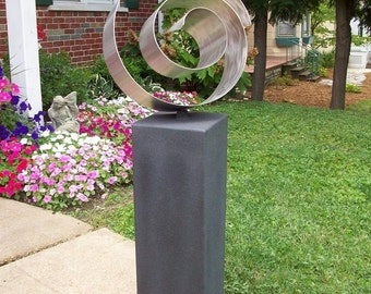 Freeform Stainless Steel Sculpture In/Outdoor --FREE SHIPPING