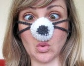 Nozy Nose Warmer for a cozy nose. Unisex. Cream'n'gray. Cheap Worldwide Shipping. Great Gift Idea.