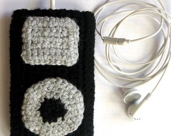 PDF iPod Classic iPhone Cover Crochet Pattern - 1 hour to make
