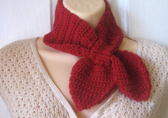 Instant Download Ascot Scarf Crochet Pattern - Permission to sell finished items