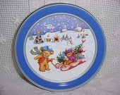 Sweetie Bear Bakery Cookie Tin Sweetie Bear Christmas Time