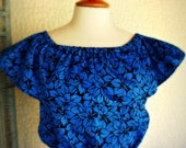 1950s style/ reproduction / gypsy / peasant  / cotton / hawaiian / blouse / ALL SIZES