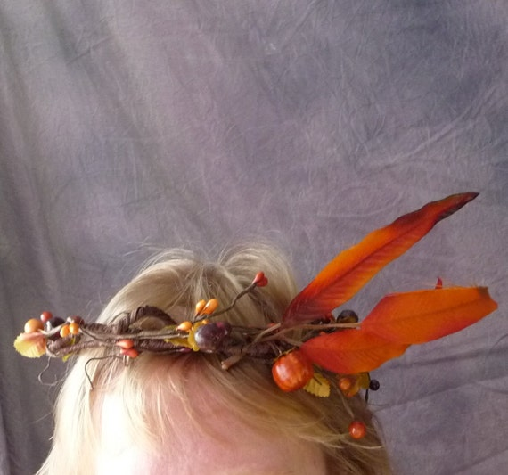 RESERVED for Stef ONLY Tiny Pumpkins Crown Avant Garde Hair Fascinator