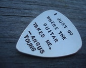 Custom Sterling Silver Hand Stamped Guitar Pick