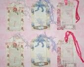 Floral Journal Tag Set
