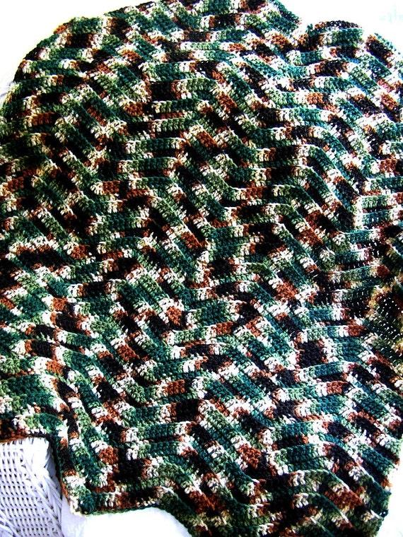 Knitting Pattern For Zig Zag Afghan : new chevron zig zag baby blanket afghan crochet knit wrap