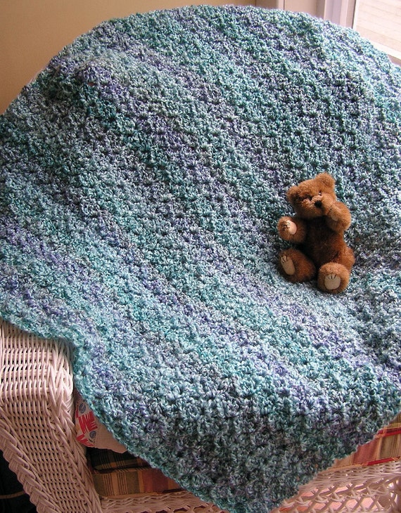 Crochet Afghan Pattern Homespun Yarn : new baby blanket afghan lion brand homespun yarn crochet knit