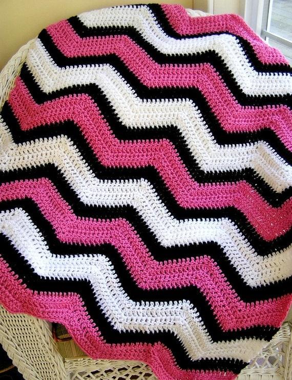 chevron zig zag bEbE couverture crochet tricot Echarpe afghan ...