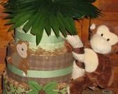 Baby Boy Monkeying Around Diaper Cake