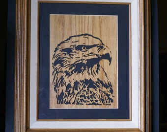 American Bald Eagle Wood Framed Wall Art