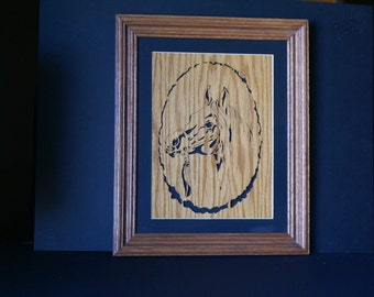 Race Horse in the Winners Circle Wood Framed Wall Art