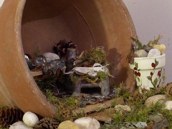 Woodland Fairy House Potting Shed