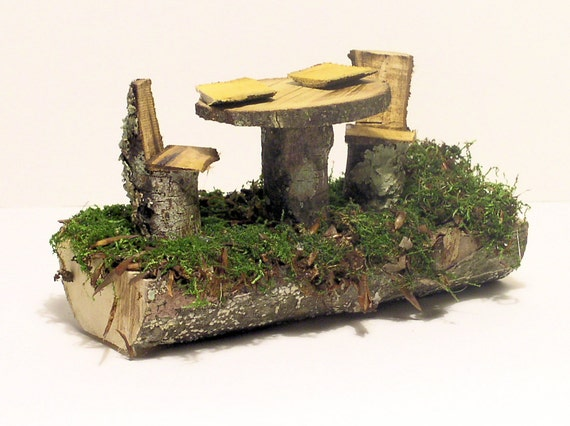 Woodland Fairy House Furniture Table and Chairs