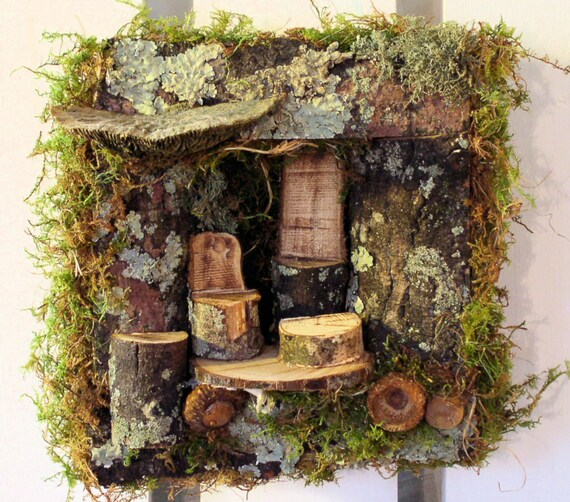 Woodland Fairy House 3d Wall Art Sculpture