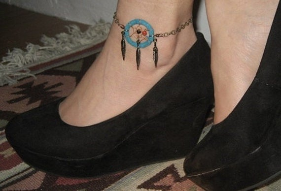 Feather Ankle Bracelet Tattoo