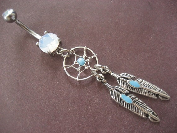 Dream Catcher Belly Button Rings Belly Button Ring Jewelry Dream Catcher Belly Button Ring 2
