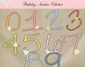 Birthday Numbers Collection - Digital Cliparts -COMMERCIAL USE OK