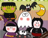 Cute Halloween Collection - Cliparts COMMERCIAL USE OK
