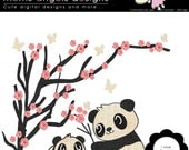I Love Pandas Cliparts - Commercial Use OK