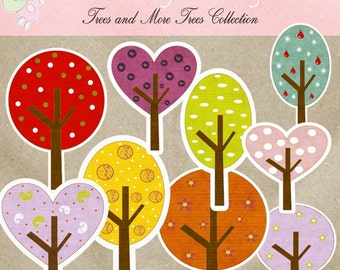 Trees and More Trees Collection - Digital Cliparts