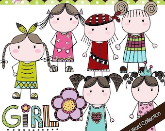 Doddle Girl World Collection - COMMERCIAL USE OK