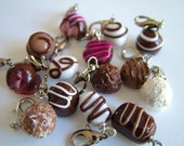 Miniature Food Full Chocolate Truffle Charm Collection