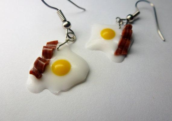 Bacon and Eggs Earings