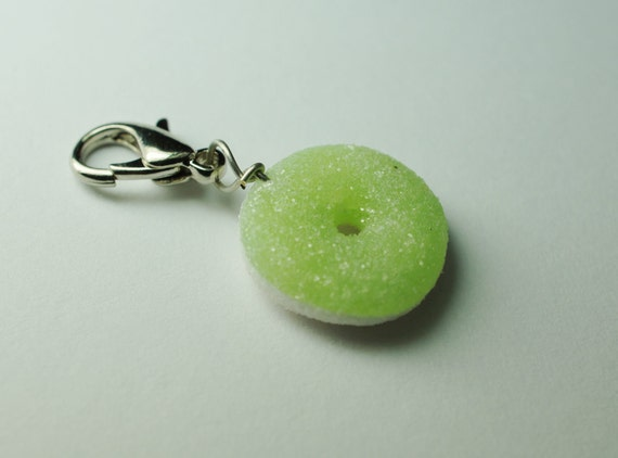 Green Apple Gummy Ring, Miniature Food Charm