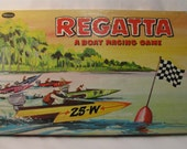 Regatta - a Boat Racing Board Game from 1958
