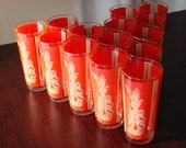 RESERVED for ChocolateMintCottage /// SALE //////  Set of 14  Goddess Vintage Glasses