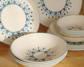 Reserved for SBWAXMAN - SALE //////  Swiss Alpine or Chalet Plates, Bowls and Platter