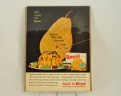 VINTAGE AD - Royal Gelatin Dessert,  perfect to decorate your kitchen.