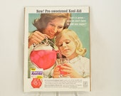 VINTAGE AD - Kool-Aid presweetened drink mix,  perfect to decorate your kitchen.