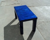 Contemporary Coffee Table - Blueberry Blue