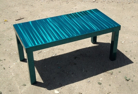 Unavailable listing on etsy for Teal coffee table
