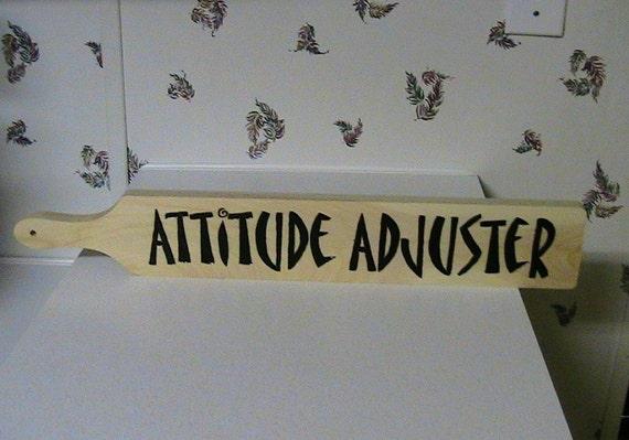 Items similar to Woodburned Attitude Adjuster Paddle on Etsy