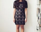 Lace T Dress (S) Black