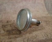 One Dozen (12) Drawer Pulls/Cabinet Knobs - 25mm - Antique Silver Finish - Perfect for Resin, Cabochons