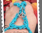 Leather Slave Bracelet Peace Sign Slave Bracelet Direct Checkout CYBER MONDAY Etsy